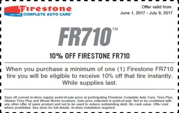 Firestone FR710 Tire Coupon