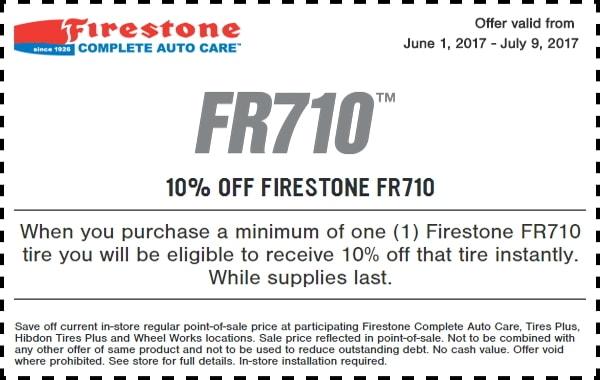 Firestone FR710 Tire Coupon