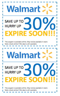 can you use coupons online at walmart